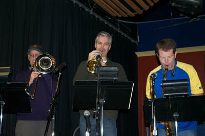 Trombone, trumpet, and sax with Jeff Presslaff